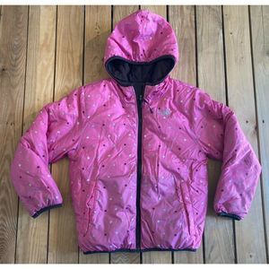 The North face Zip Up Reversible Hooded Puffer
